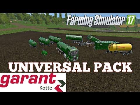 Farming Simulator 17 GARANT kotte  UNIVERSAL PACK