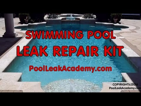 Swimming Pool Leak Detection Dye Test And Repair Kit Youtube