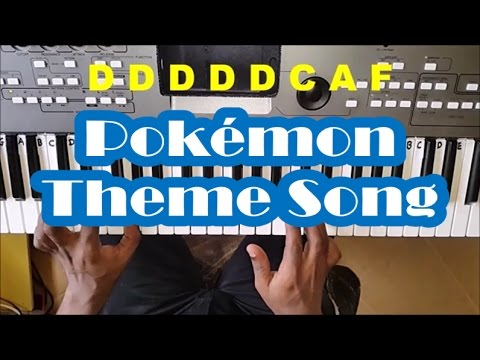How To Play Pokemon Theme Song - Easy Piano Tutorial