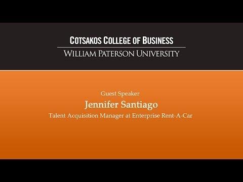 Jennifer Santiago of Enterprise - Beta Gamma Sigma Networking Event (Full Length)