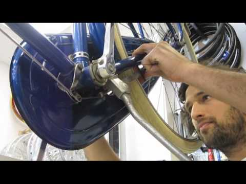 Raleigh rod brake repair at Flying Pigeon LA bike shop