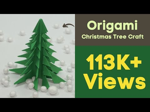 Origami Christmas Tree Craft - DIY Paper Christmas Tree Just in 5 Min.
