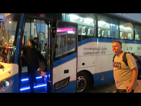Bangkok to Pattaya by Bus Walkthrough – 130 baht – April 2015