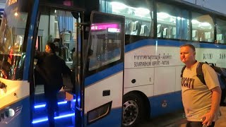 Bangkok to Pattaya by Bus Walkthrough - 130 baht - April 2015