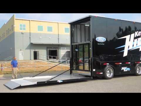 Kentucky High Tech Race Transporter Lift Gate Youtube