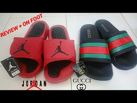 0b2cfb98219599 GUCCI SANDALS   JORDAN HYDRO SLIDES REVIEW + ON FOOT (Fake Copy Ori ...