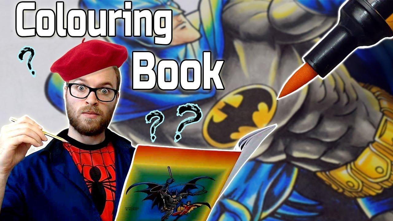 Professional Artist Colors a CHILDRENS Coloring Book?.... Again | BATMAN |