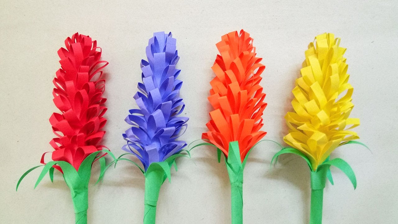 How To Make Craft Flowers For Kids