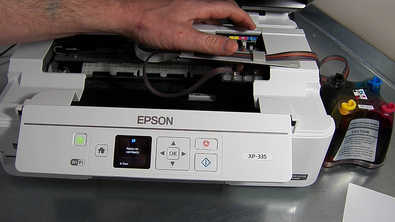 Ciss Continuous Ink System Fits Epson Xp335 Xp 335 Youtube