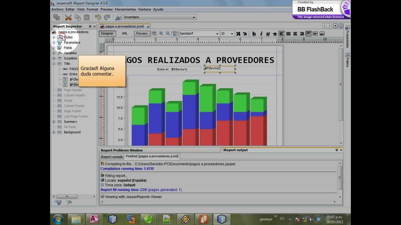 Creacion de un grafico chart en ireport 45 youtube creacion de un grafico chart en ireport 45 ccuart Gallery