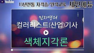 [세인에듀] 컬러리스트(산업)기사 필기 [색채지각론] …