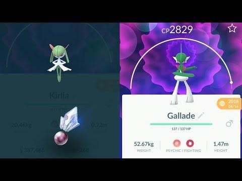 Evolving Kirlia into Gallade - Pokemon Go Gen 4 Evolution
