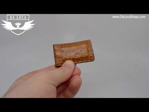 DaLuca Handmade Alligator Money Clip - Cognac