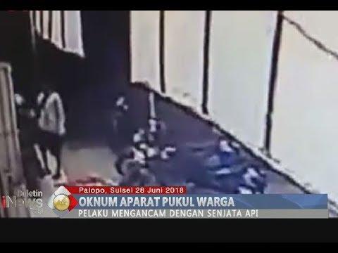 [Rekaman CCTV] Diduga Oknum Polisi Pukuli Warga & Ancam Korban dengan Senjata Api