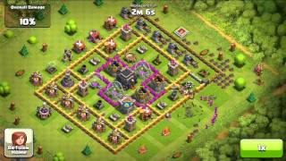 Clash of Clans - How to deal with a Barb King, 370k gold raid