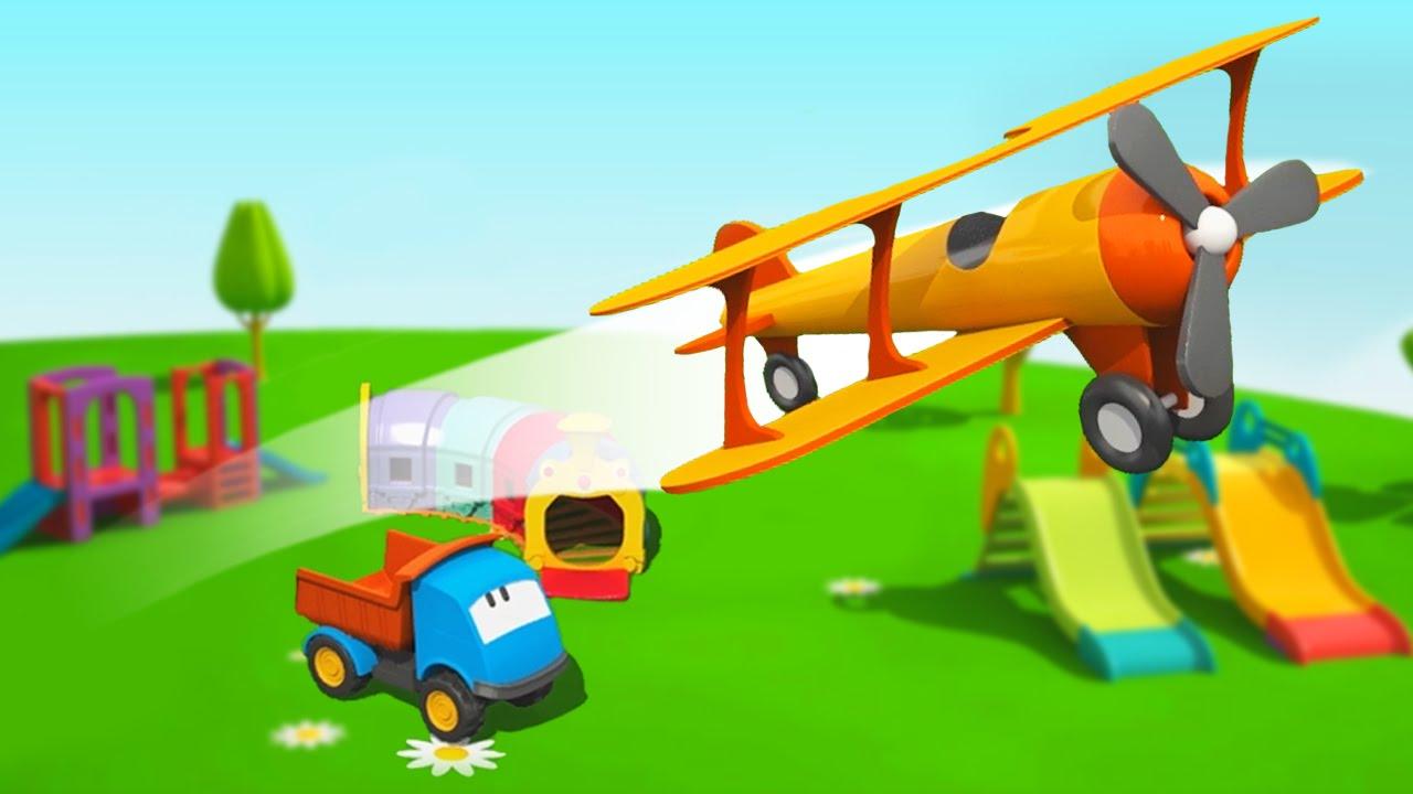 Cartoni animati per bambini leo il camion curioso e un aereo youtube
