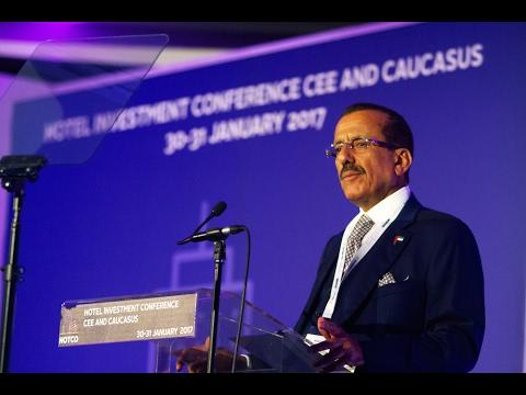 Khalaf Al Habtoor gives keynote speech at HOTCO (Budapest, Hungary)