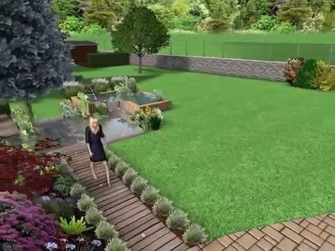 Am nagement de jardin en 3d 2 paysagiste vandamme for Amenagement jardin 3d