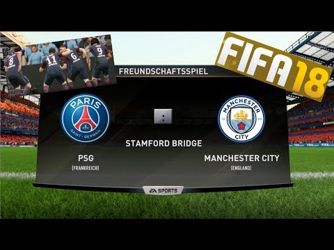 FIFA 18 | ICON EDITION | FULL GAMEPLAY | PARIS SAINT GERMAIN - MANCHESTER CITY | FREEKICK GOAL
