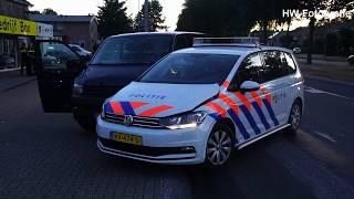 Bestelbus klemgereden door politie na achtervolging