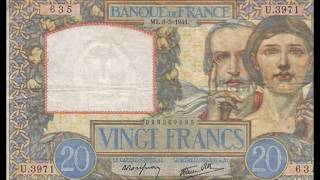 Currencies of the World: Principality of Andorra; French Franc (2nd Series of 1941)