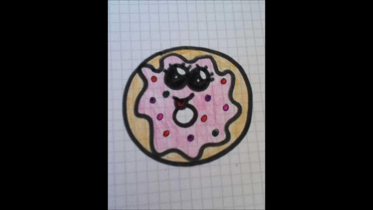 Cutextekenen Zo Maak Je Een Cute Kawaii Donut Youtube