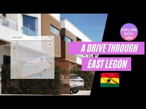 East Legon Accra Ghana Drive - through real east Legon