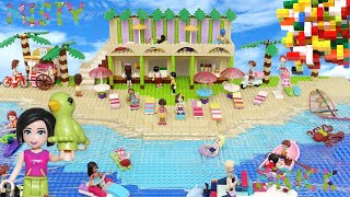 Lego Friends Summer Holidays on the Beach  & Real Water by Misty Brick Kids Toys.