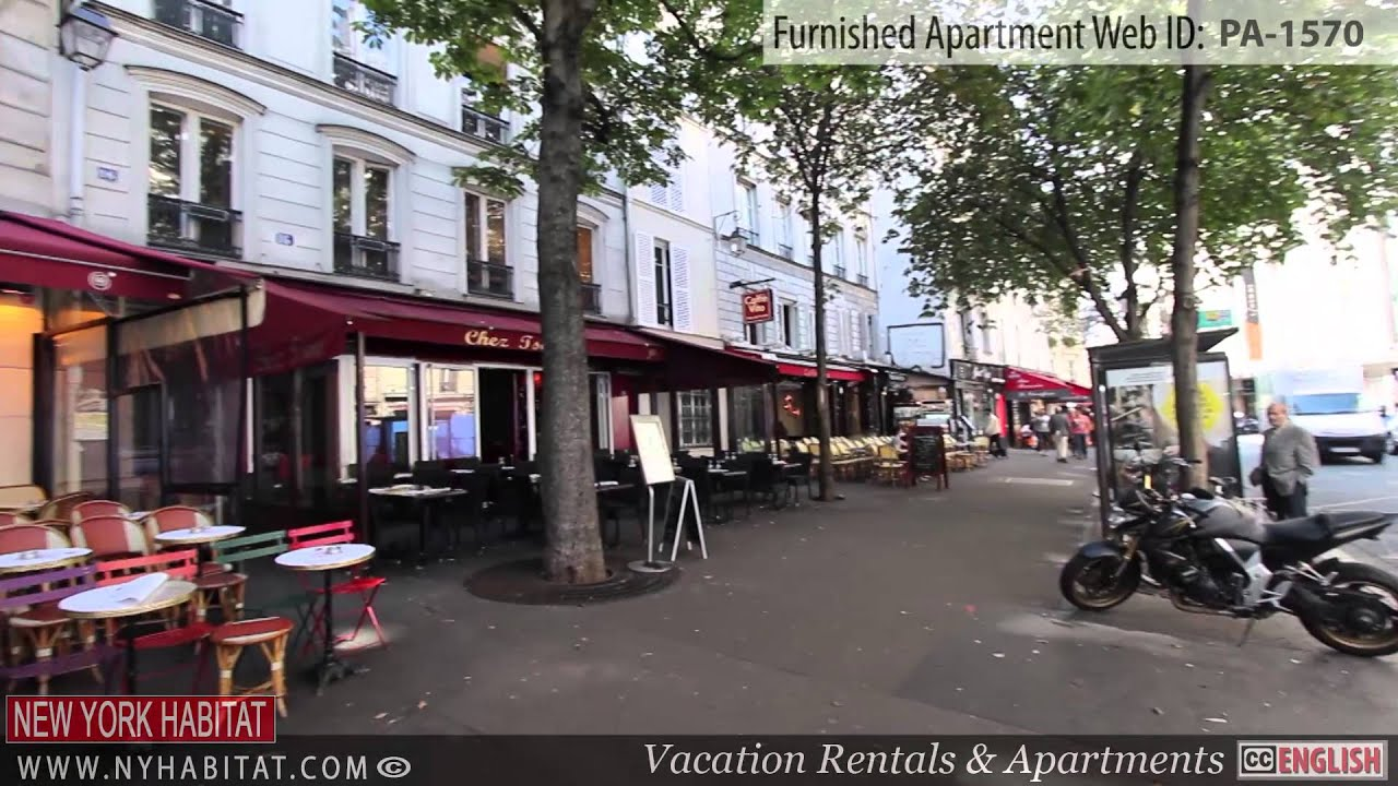 video tour of a furnished studio apartment in le marais paris