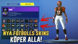 NEW FOOTBALL SKINSEN IS NOW OUT & I BUY ALL! -FORTNITE IN ENGLISH