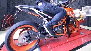 2017 KTM Duke 390 Dyno Run Top Speed 170 km/h with Remus S-Flow, Powertronic ECU & Quickshifter