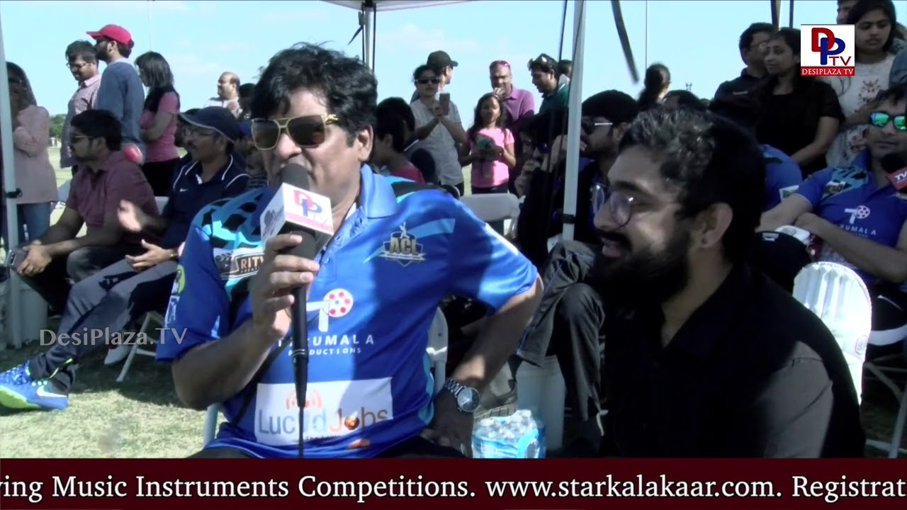 Comedian Ali makes fun with DesiplazaTV at Movie Actors Cricket in Dallas, USA - DesiplazaTV