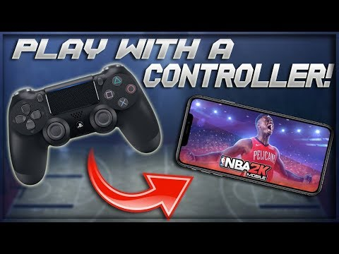 Playing NBA 2K Mobile With A PS4 Controller So Smooth!!