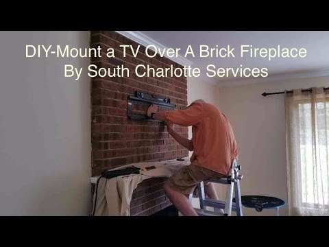 Easy Brick Fireplace Tv Articulated Wall Mounting Diy Video Charlotte Nc Youtube