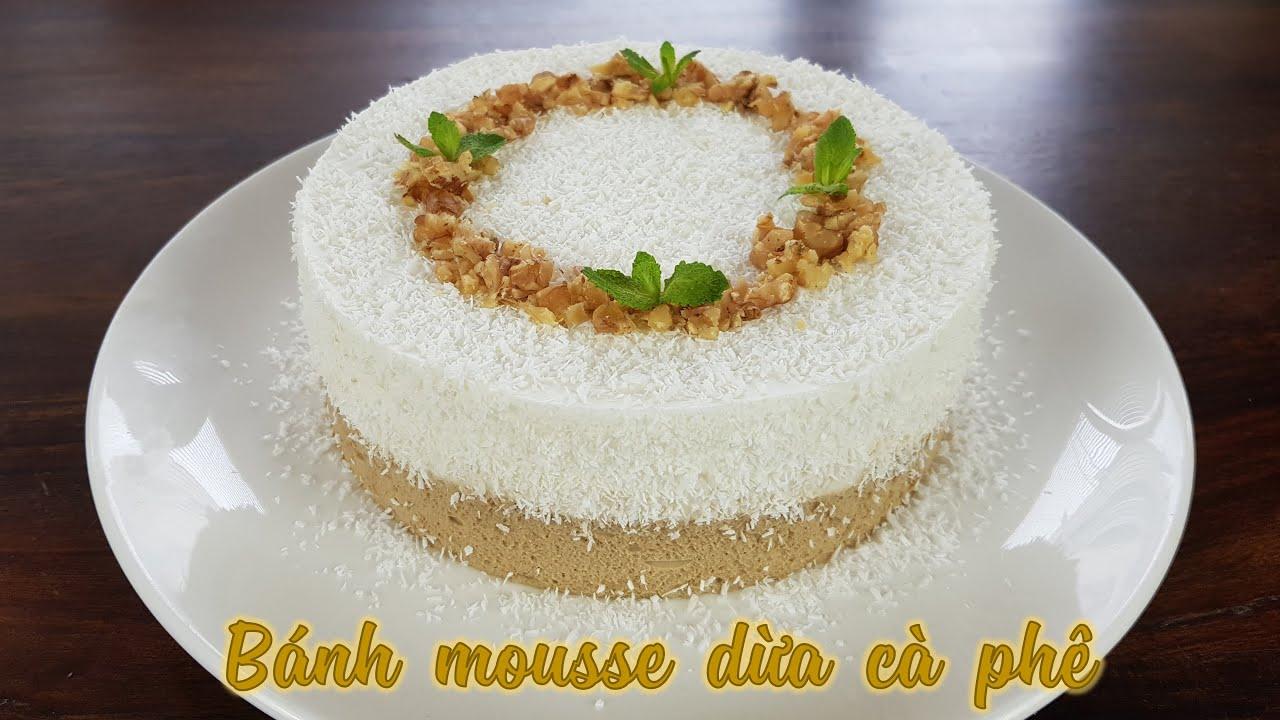 Cách làm bánh mousse dừa cà phê thơm mát cho mùa hè
