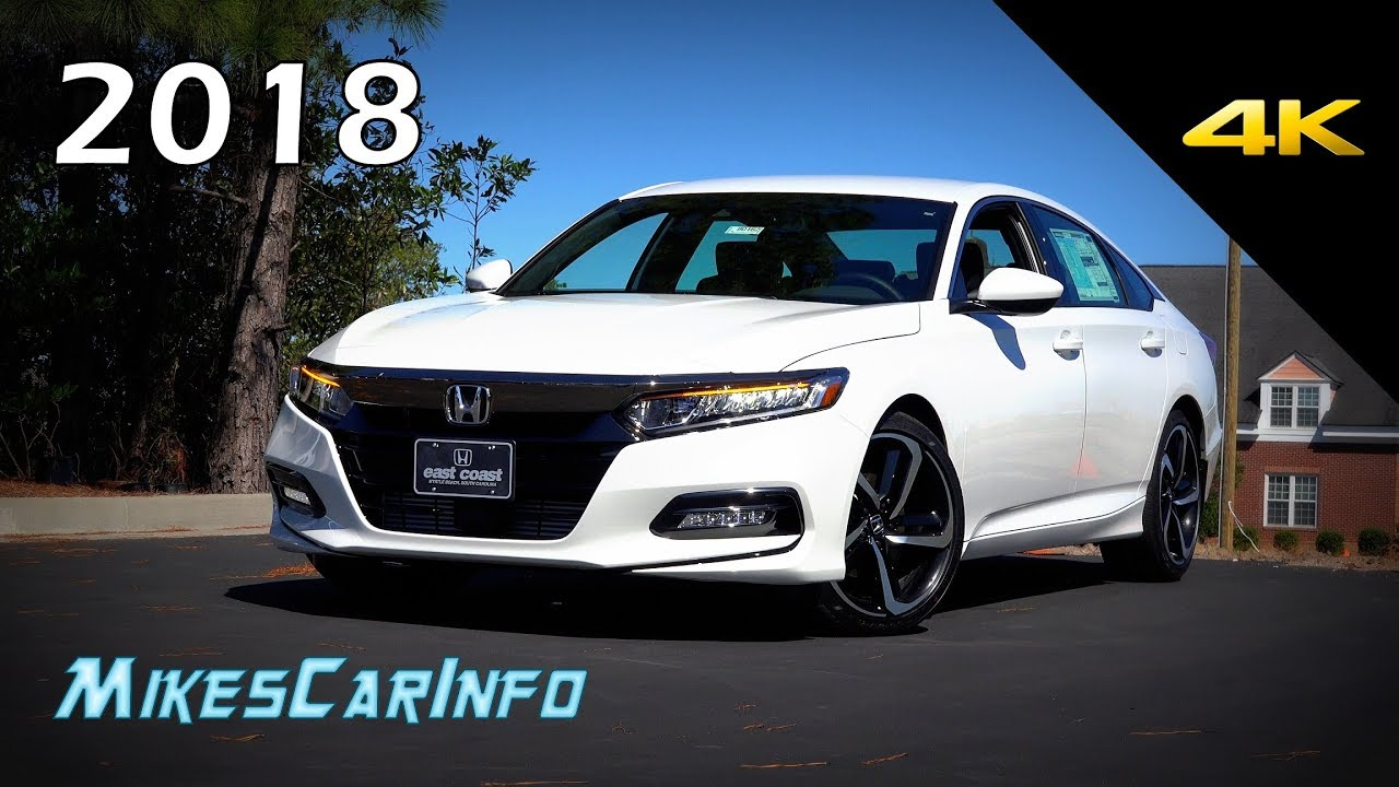 New Honda Accord 2018 >> 2018 Honda Accord Sport - Ultimate In-Depth Look in 4K - YouTube