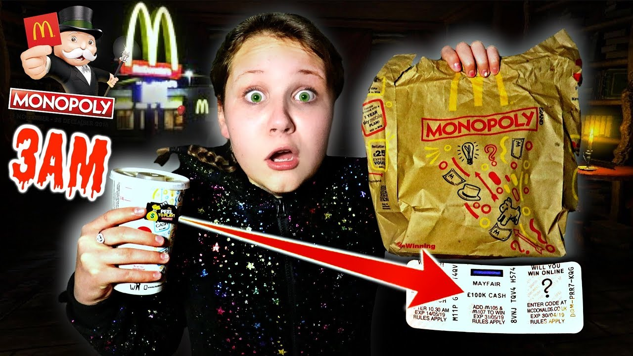 e5bbe058c7e DO NOT BUY McDONALDS MONOPOLY STICKERS AT 3AM - Challenge - YouTube