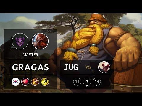 Gragas Jungle vs Lee Sin - KR Master Patch 9.23