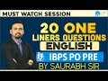 IBPS PO PRE | 20 One Liners Questions  | By Saurabh Sir | 5:00 PM