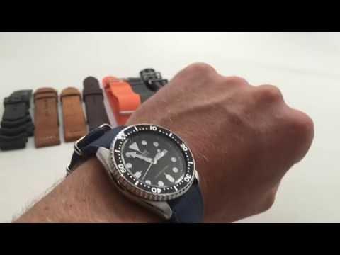 Seiko SKX Watch Strap Guide--8 Recommendations Bracelet, NATO, Perlon, Suede, Leather, Rubber