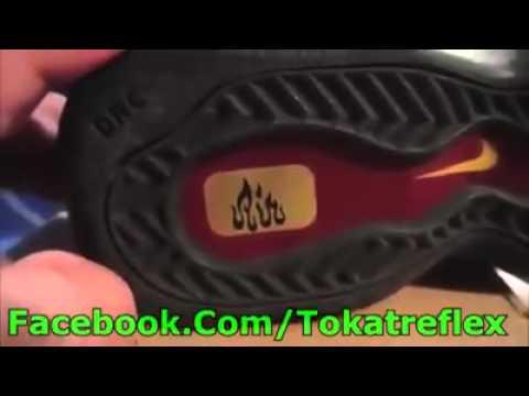 Auf Schuh und Socke steht Allah YouTube