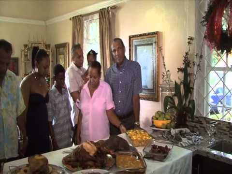 St. Vincent & Grenadines Christmas in the Caribbean... dinner cooking Family songs Rum dinner