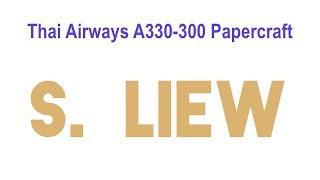 Thai Airways A330-300 Papercraft