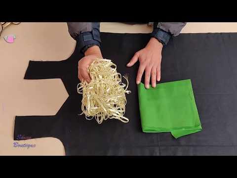 Trendy Beautiful Angrakha Style    Front Kurti Neck Design Cutting and Stitching