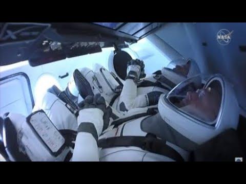 Space X Launch Reaction  Dragon crew & Falcon 9 Bob & Doug
