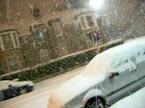 Heavy snow in UK, Aberdeen, Scotland