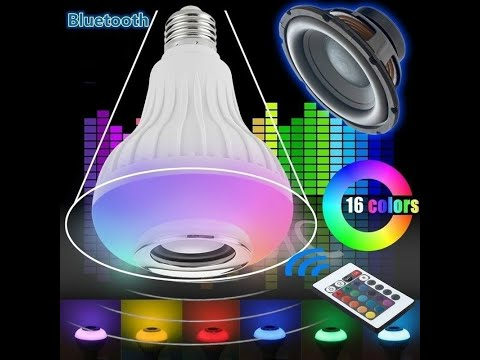 Bombilla altavoz con luces led