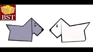 ОРИГАМИ - Как сделать СОБАКУ породы скотч-терьер из бумаги А4 своими руками?