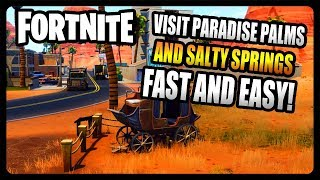 """Baixar """"Visit Paradise Palms and Salty Springs in a single match"""" FASTEST and EASIEST Way! (Fortnite)"""