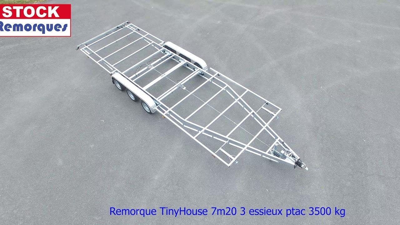 Achat Remorque Tiny House tiny house 3 essieux 7m20 - 3500kg